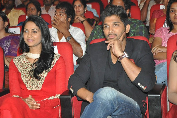 Sneha And Hubby Allu Present At Iddarammayilatho Audio Launch Function