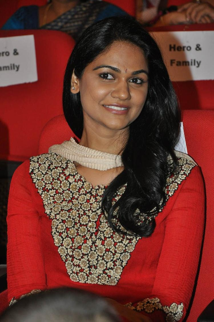 Sneha Cute Smiling Look At Iddarammayilatho Audio Launch Function