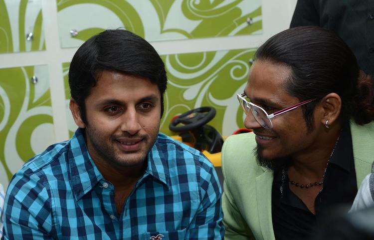 Nithin Sweet Smile Pic During The Launch Of  Alexander Unisex Salon