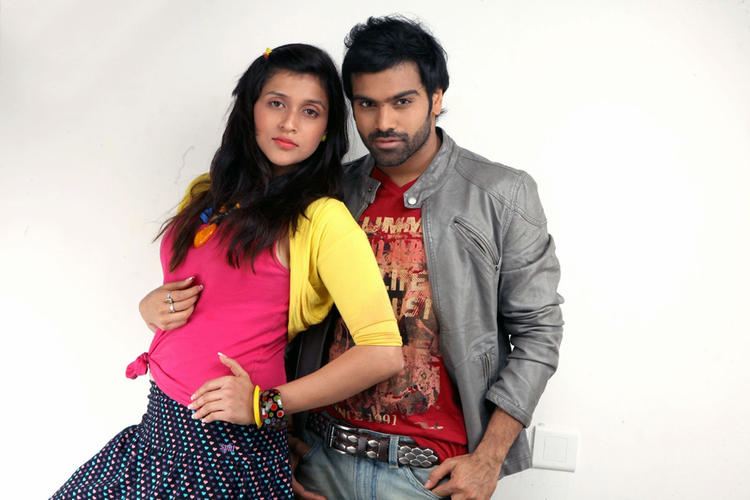 Barbie And Sreeram Chandra Hot Pose Still From Prema Geema Jantha Nai Movie