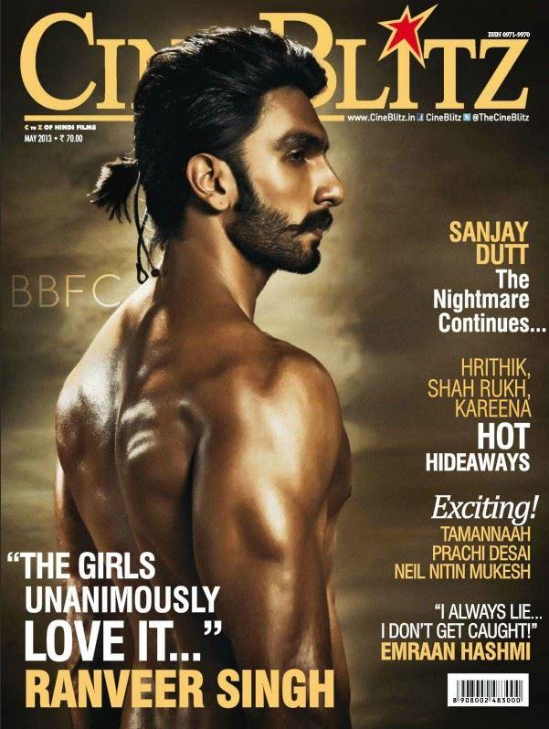 Ranveer Singh New Look On The Cover Of CineBlitz