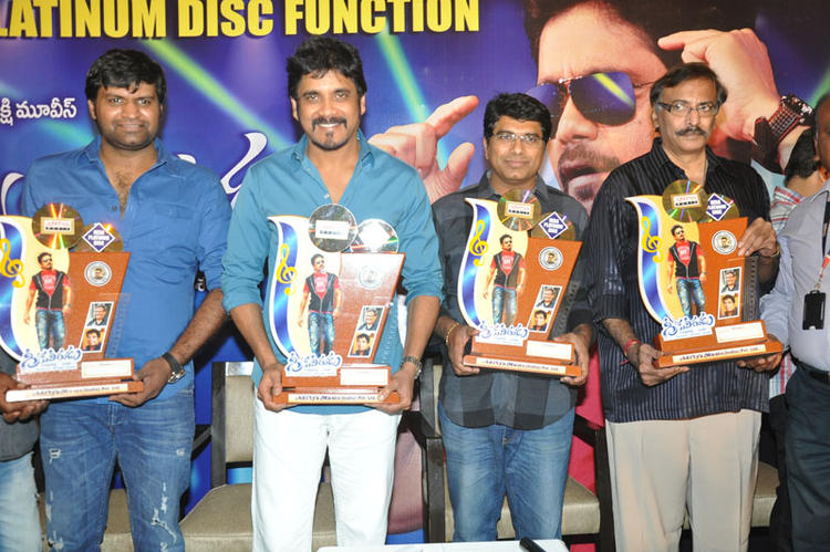 Nagarjuna At The Launch Of Greeku Veerudu Hexa Platinum Disc