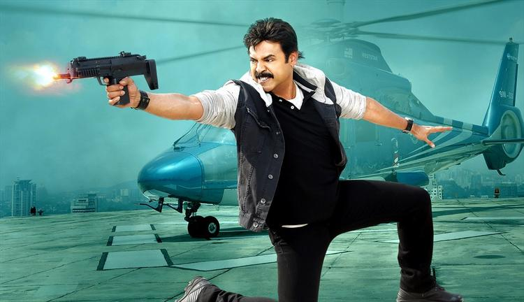 Venkatesh Angry Look Still From Shadow Movie