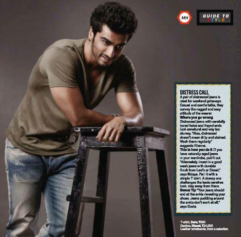 Arjun Cool Look Photo Shoot Style Cover Issue Inside Men's Health Magazine May 2013