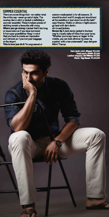 Arjun Kapoor Nice Pose Photo Shoot Style Cover Issue Inside Men's Health Magazine May 2013