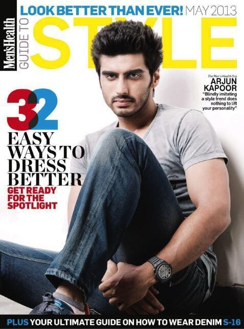 Arjun Kapoor On Style Cover Issue Inside Mens Health Magazine May 2013 Issue