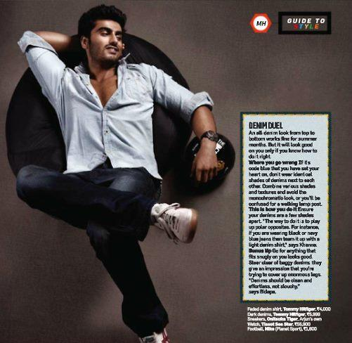 Arjun Kapoor Stylish Look Photo Shoot Style Cover Issue Inside Men's Health Magazine May 2013