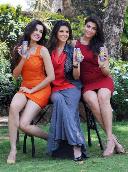 Archana,Sonalli and Sunny Leone Shoot For Energy Drink Ad
