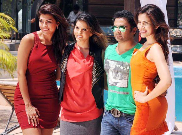 Sunny Photo Shoot With Sachiin,Archana,Sonalli For Energy Drink Ad
