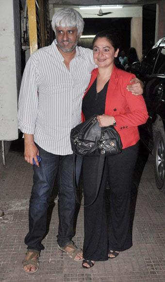 Vikram Bhatt With Pooja During Special Screening Of Aashiqui 2