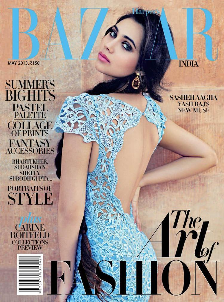 Sasheh Aagha On The Cover Of Harper's Bazaar India May 2013