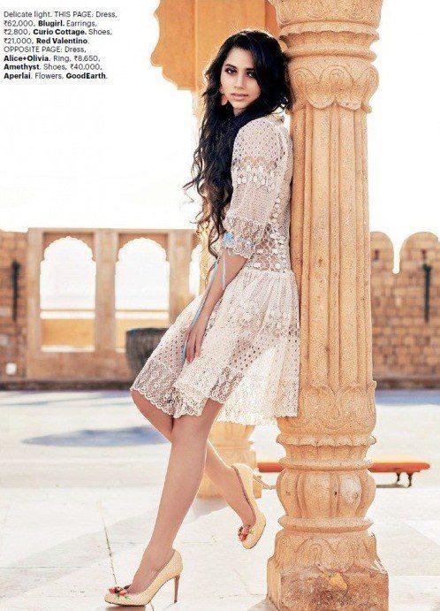 Sasheh Aagha Stunning Hot Look Photo Shoot For Harper's Bazaar India May 2013