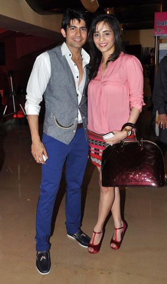 Hussain Kuwajerwala With Wife Tina During Shree Movie Premiere
