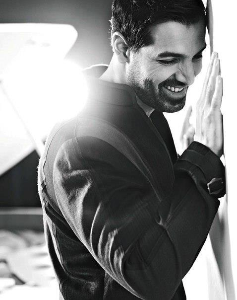 John Abraham Smiling Cool Photo Shoot For Filmfare Magazine May 2013