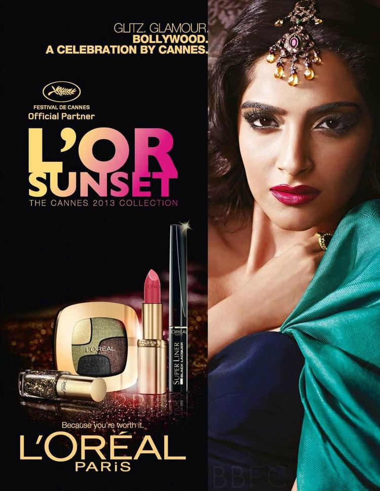 Sonam Stunning Glamour Look Shoot For Cannes 2013 L'Oreal 2013 Collection