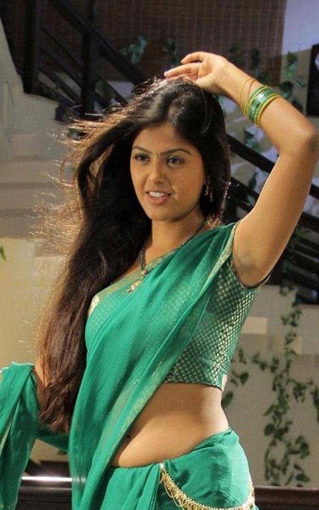South Actress Monal Gajjar Hot Stills in Green