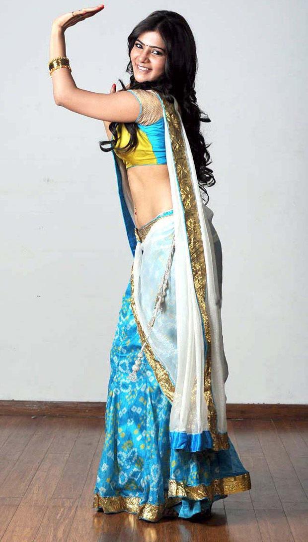 Samantha Ruth Prabhu In Saree Dancing Pose Nice Look Still