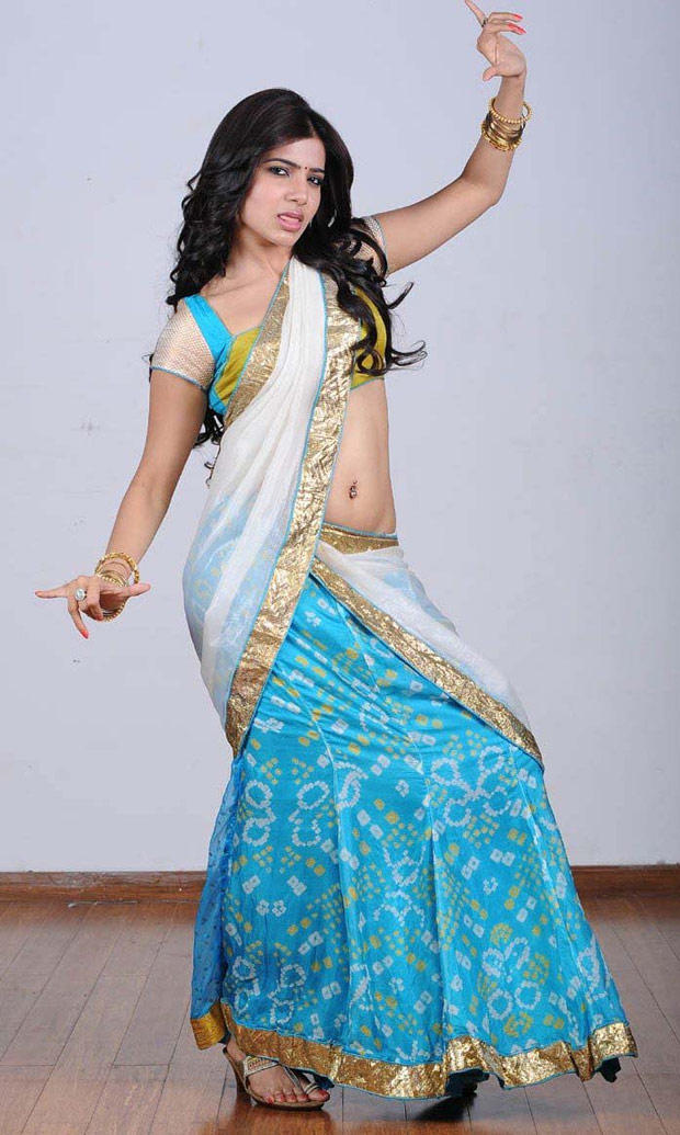 Samantha Ruth Prabhu In Saree Glamour Look Still