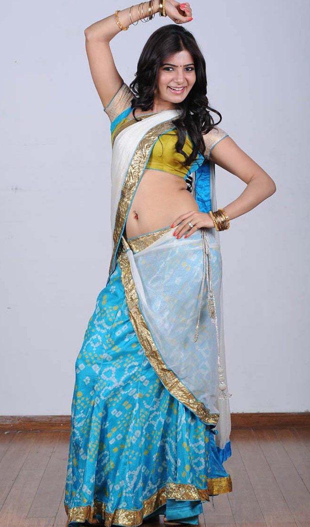 Samantha Ruth Prabhu In Saree Hot Still