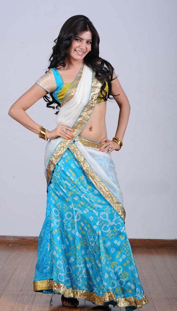 Samantha Ruth Prabhu In Saree Navel Show Sexy Still