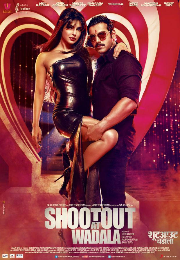 Priyanka and John Hot Pose In Shootout At Wadala Movie Poster