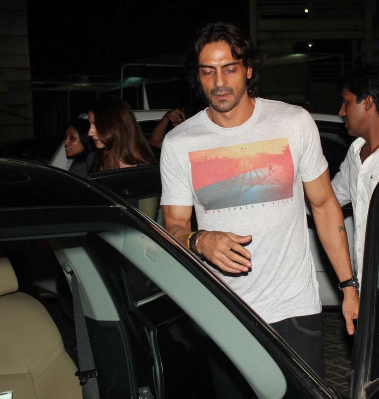 Arjun Rampal Arrives At The Screening Of Iron Man 3