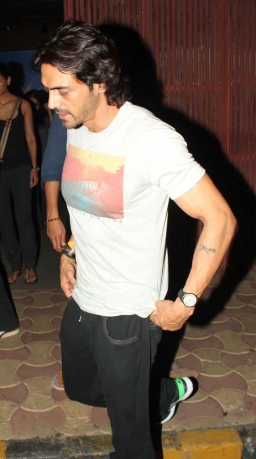 Arjun Rampal Spotted At The Screening Of Iron Man 3