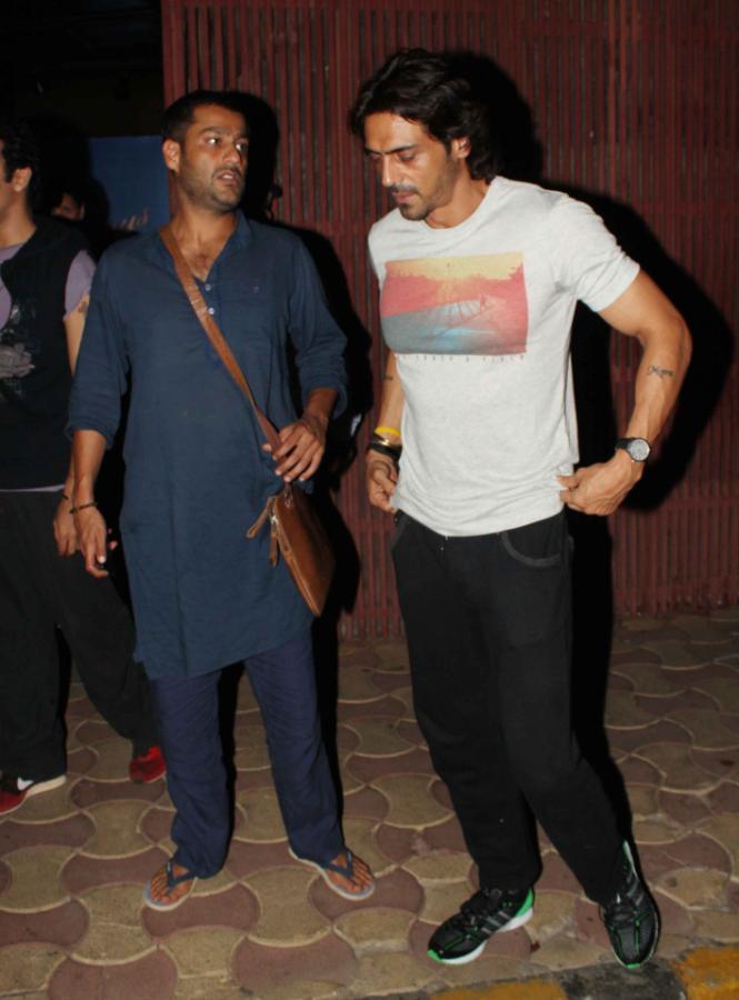 Bollywood Hunk Arjun Rampal At The Screening Of Iron Man 3