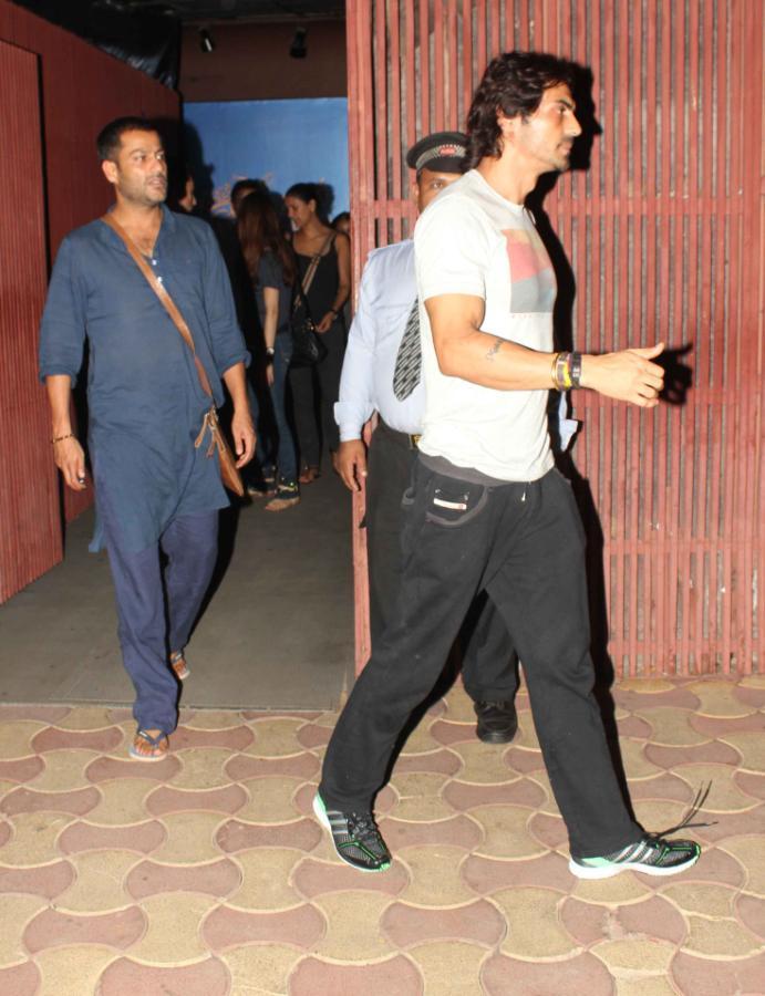 Bollywood Star Arjun Rampal At The Screening Of Iron Man 3