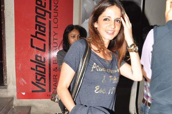 Suzanne Roshan Spotted to Watches Shootout At Wadala