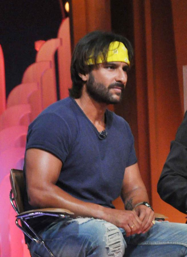 Saif Ali Khan On The Sets Of Extra Innings T20 IPL 2013 For Promoting Go Goa Gone