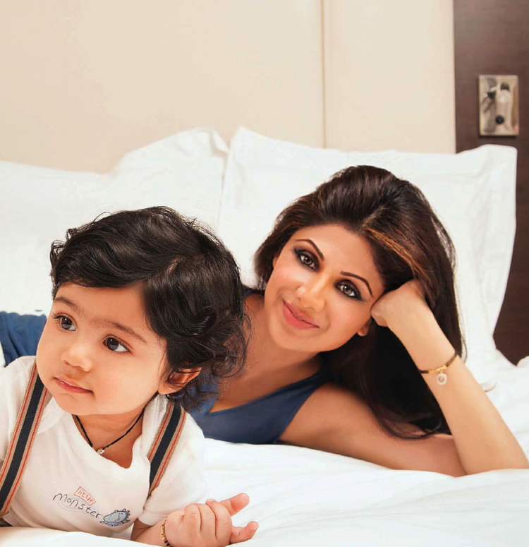 Shilpa And Her Son Viaan Cool Photo Shoot For Hello! India May 2013