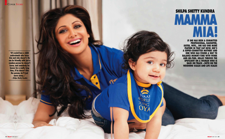 Shilpa And Her Son Viaan Dazzling Look Photo Shoot For Hello! India May 2013
