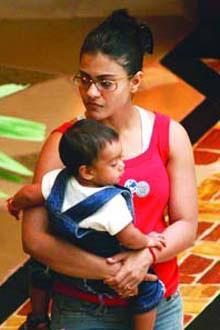 Kajol And Her Son Yug Latest Pic