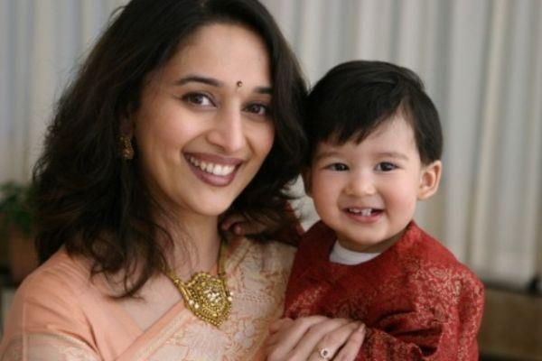 Madhuri Dixit Latest Cute Photo With Her Son