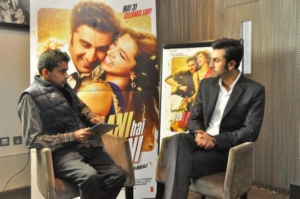 Ranbir Kapoor Discussion Look During The Promotion Of YJHD In London