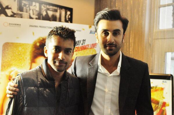 Ranbir Kapoor Posed For Camera During The Promotion Of YJHD In London