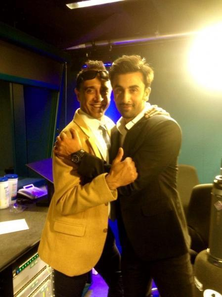 Ranbir Kapoor Posed During The Promotion Of YJHD In London