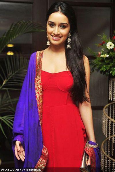Shraddha Kapoor In Red Dress Stunning Look Still