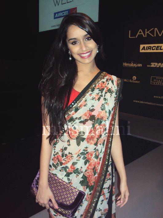 Smiling Shraddha Kapoor In Saree Latest Still