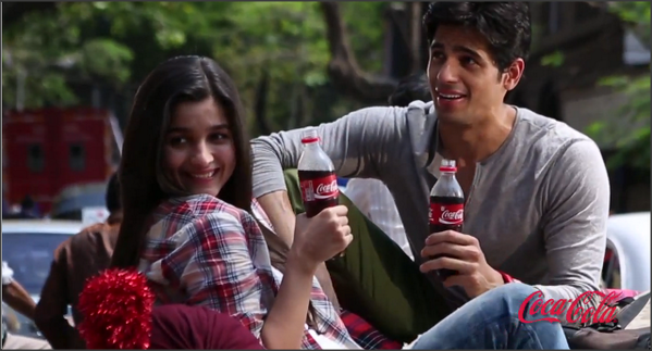 Alia And Siddharth In Commercial Ad From Coca Cola