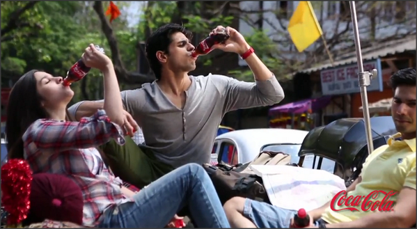 Alia With Bollywood Hunk Siddharth In Coca Cola Ad