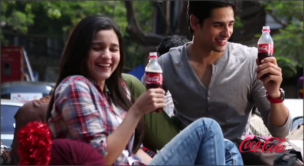 New Star Siddharth And Alia Bhatt in Coca Cola Ad
