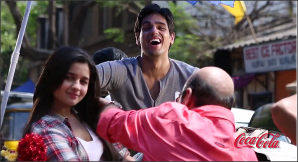 Siddharth And Alia Bhatt Coca-Cola Ad Behind Scenes