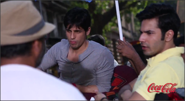 Siddharth and Varun On The Sets Of Commercial Ad Coca Cola