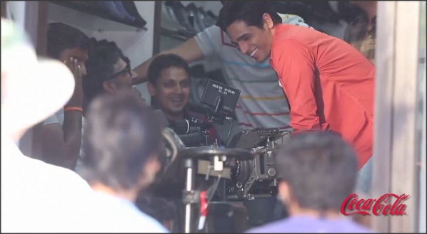 Siddharth Malhotra A Pic On The Sets Of Coca-Cola Ad