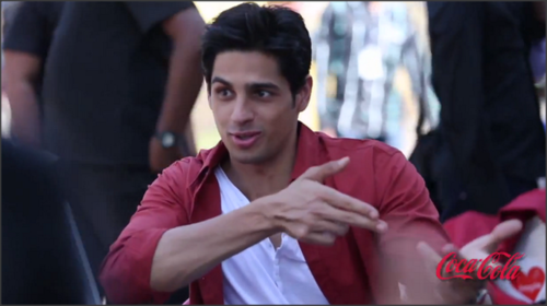 Siddharth On The Sets Of Coca-Cola Ad