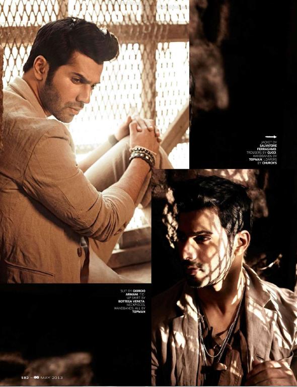Varun Dhawan Dazzling Face Look Photo Shoot For GQ India May 2013