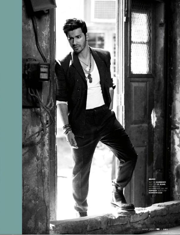 Varun Dhawan Smart Look Photo Shoot For GQ India May 2013