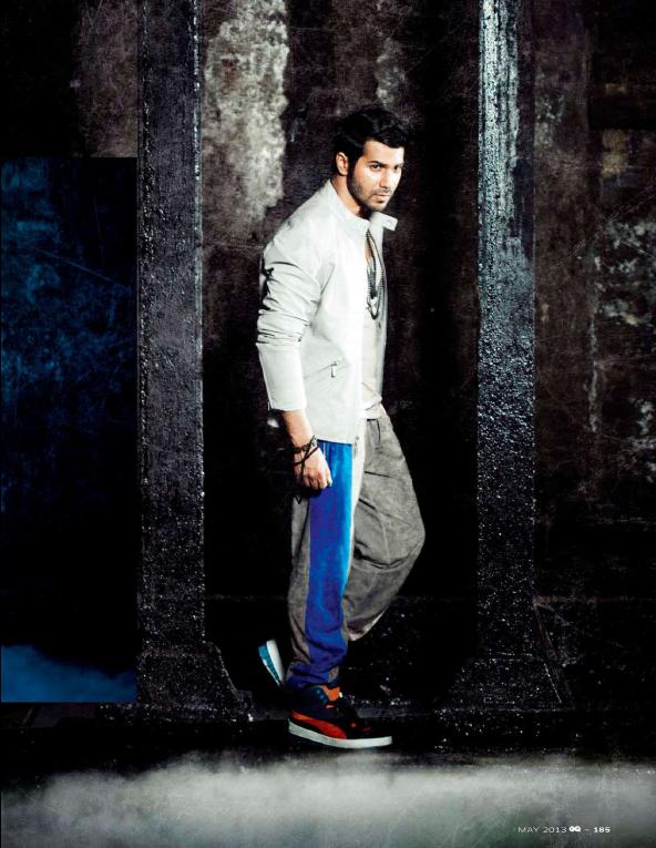 Varun Dhawan Stunning Look Photo Shoot For GQ India May 2013